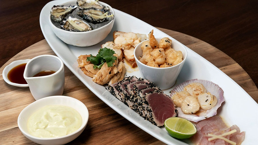 Steamed Miso Snapper Miso Poached Bugs Popcorn Shrimp King Fish Sashimi Oysters And Pan Seared Scollops Network Ten