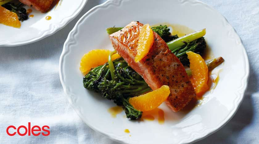 Panfried Salmon With Baby Broccoli And Orange Sauce Network Ten