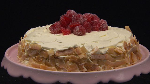 Fabulous Raspberry Coconut Birthday Cake Network Ten Personalised Birthday Cards Paralily Jamesorg