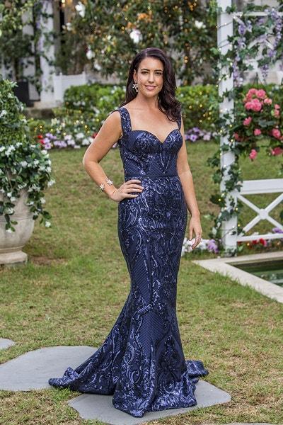 Jessie Ashley - Dark Blue Sequin Beaded Dress - Bachelor Australia - Matt Agnew - Season 7 - *Sleuthing Spoilers* 7854332dee2ebefa6c99fb3c356c5e1a-542085