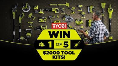 WIN 1 of 5 RYOBI ONE+ Power Tool Kits - Network Ten